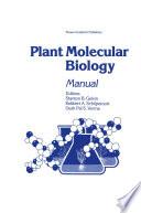 Plant Molecular Biology Manual Book PDF
