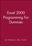 Excel 2000 Programming For Dummies