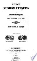 Études numismatiques et archéologiques