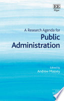 A Research Agenda for Public Administration