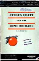 Citrus Fruit for the Home Orchard Book
