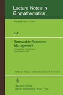 Renewable Resource Management