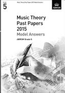 Music Theory Past Papers 2015 Model Answers  ABRSM Grade 5