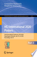 HCI International 2020   Posters Book