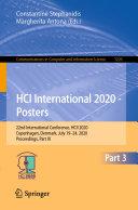 HCI International 2020   Posters