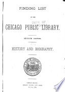 Finding List of the Chicago Public Library Book