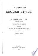 Contemporary English ethics....