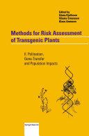Methods for Risk Assessment of Transgenic Plants [Pdf/ePub] eBook