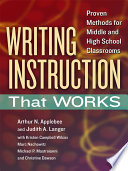 Writing Instruction That Works