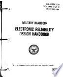 Electronic Reliability Design Handbook Book