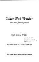 Older But Wilder Book