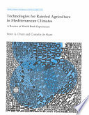 Technologies for Rainfed Agriculture in Mediterranean Climates Book