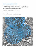 Technologies for Rainfed Agriculture in Mediterranean Climates