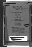 The Murders Of Miriam