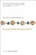 The New Oxford Book Of Seventeenth Century Verse