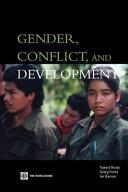 Gender, Conflict, and Development