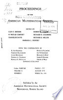 Proceedings of the American Mathematical Society