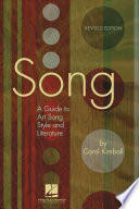 Song, A Guide to Art Song Style and Literature by Carol Kimball PDF