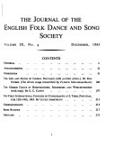 Journal Of The English Folk Dance Song Society
