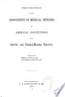 Proceedings and Addresses of the     Annual Session Book