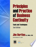 Principles And Practice Of Business Continuity Book PDF