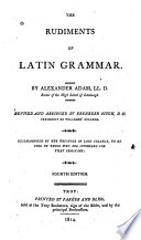 The Rudiments of Latin Grammar Book