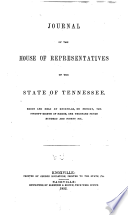 Journal of the House of Representatives of the state of Tennessee