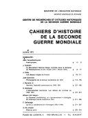 Cahiers d'histoire de la seconde guerre mondiale