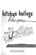 Kitchen Kollege Recipes