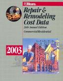 Repair and Remodeling Cost Data 2003