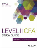 Wiley Study Guide for 2016 Level II CFA Exam Book