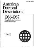American Doctoral Dissertations Book PDF