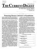 The Current Digest of the Post Soviet Press