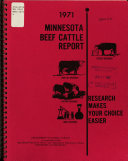 Minnesota Beef Cattle Report