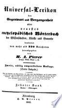 Universal-lexikon der gegenwart und vergangenheit