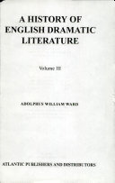 A History of English Dramatic Literature