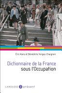 Pdf Dictionnaire de la France sous l'Occupation Telecharger