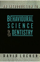 An Introduction to Behavioural Science & Dentistry
