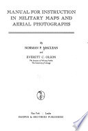 Manual for Instruction in Military Maps and Aerial Photographs