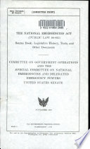 The National Emergencies Act  Public Law 94 412