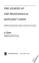 The Genesis of the Professional Officers' Corps