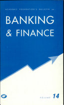 Academic Foundation S Bulletin On Banking   Finance   Volume  14