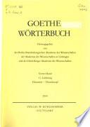 Goethe-Wörterbuch: Geschäft-Inhaftieren