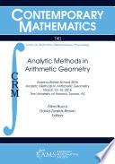 Analytic Methods In Arithmetic Geometry