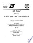 Light List 2011 V 6 Pacific Coast And Outlying Pacific Islands