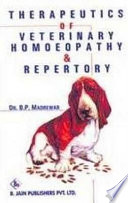 Therapeutics Of Veterinary Homoeopathy