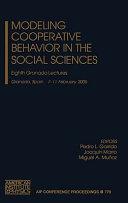 Modeling Cooperative Behavior In The Social Sciences Book PDF