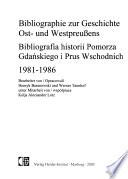Bibliographie zur Geschichte Ost- und Westpreussens