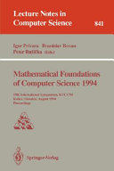 Mathematical Foundations of Computer Science 1994