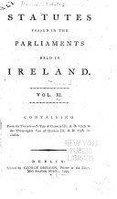 Pdf Statutes Passed in the Parliaments Held in Ireland: 1797-1798